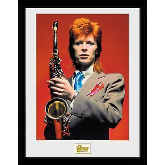 David Bowie Saxophone Collector Print 30x40cm