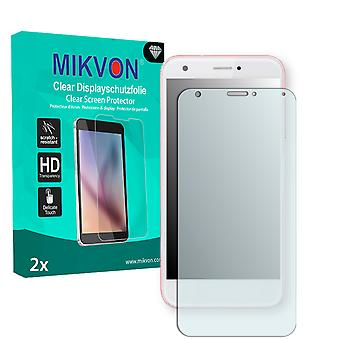 ZTE Blade A512 Screen Protector - Mikvon Clear (Retail Package with accessories) (intentionally smaller than the display due to its curved surface)