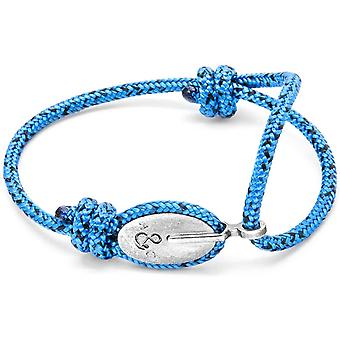Anchor and Crew London Silver and Rope Bracelet - Blue Noir