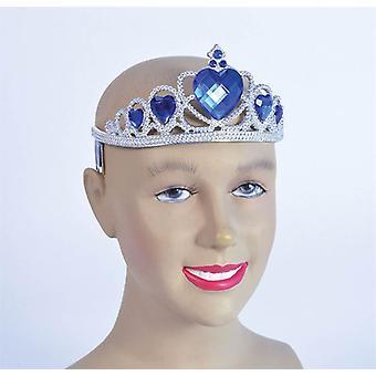 Bnov Tiara Silber Kunststoff + Blue Stone