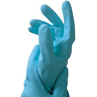 Cuidar las manos guantes de goma látex azul