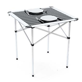 Folding Camping Table Lightweight Portable Outdoor Aluminium Frame With Bag