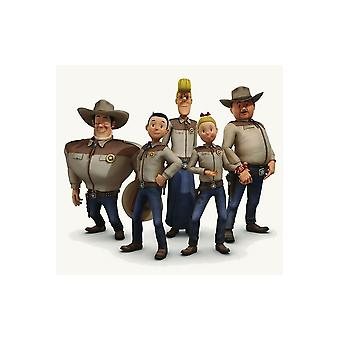 Kinderkostüme Kinder Jerommeke Shirt mit Muskeln Cowboy
