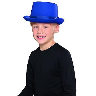 Kids Top Hat Blue, Boys Fancy Dress, One Size