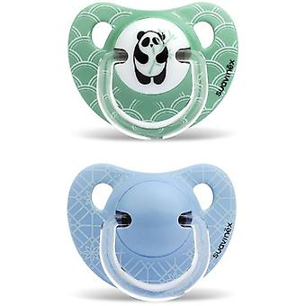 Suavinex Panda Bamboo Anatomical Pacifier 6 to 18 Months 2 pcs