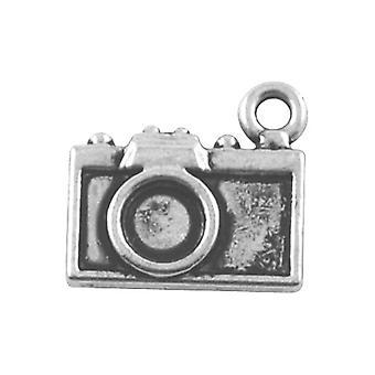 Packet 10 x Antique Silver Tibetan 14mm Camera Charm/Pendant ZX08880
