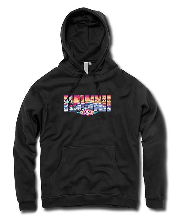 Mens Hoodie - Hawaii lettrage avec 80 s Design
