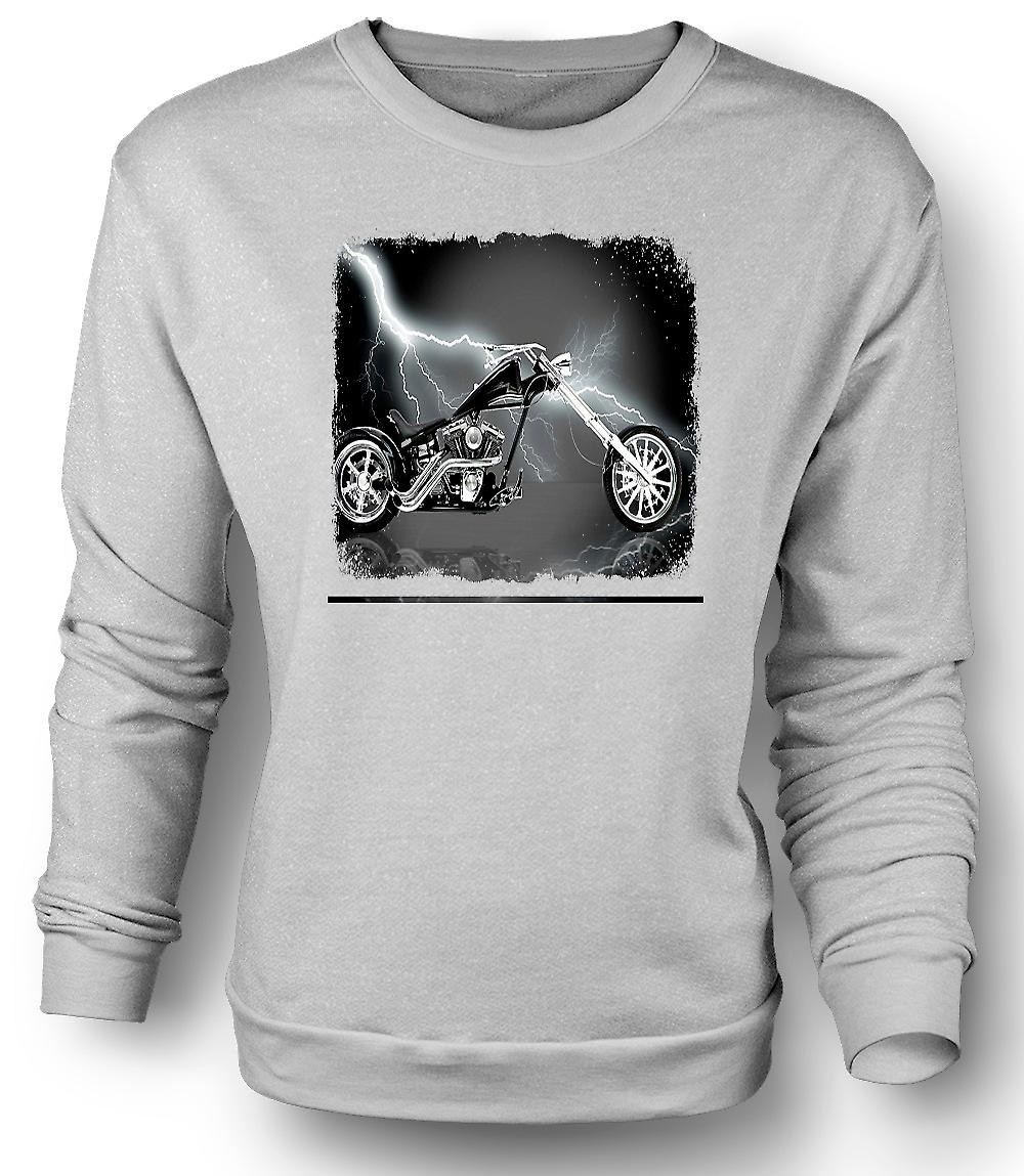 Mens Sweatshirt Chopper Biker Hog