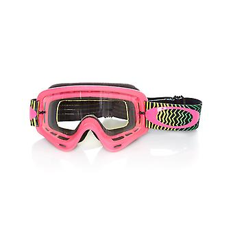 Oakley Shockwave Pink-Yellow-Green-Clear O-Frame MX Goggle