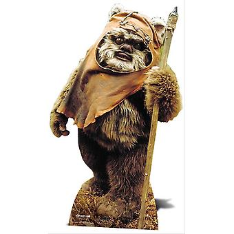 El Wicket Ewok Star Wars Lifesize Figura de cartón / espectador de pie / Standup