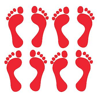 Set of 4 Pairs Quality Vinyl Footprint Stickers
