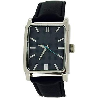 Ben Sherman Analogue Textured Black Dial Black Leatherette Strap Watch BS034