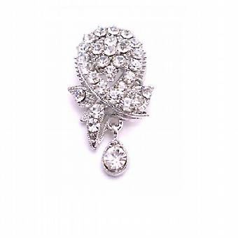 Brooch & Pendant Crystals Glittering Dangling Sophisticate Brooch Pin