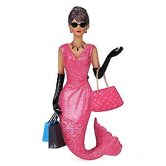 December Diamonds Miss Fashionista Mermaid Posh Pink and Chic Holiday Ornament