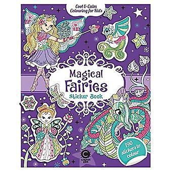 Cool & rustige kleuren voor kinderen magische feeën Sticker Book