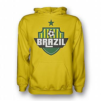Brazil Country Logo Hoody (white)