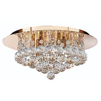 Hanna Gold 4 Semi di luce plafoniera incasso con cristalli - Searchlight 3404-4GO