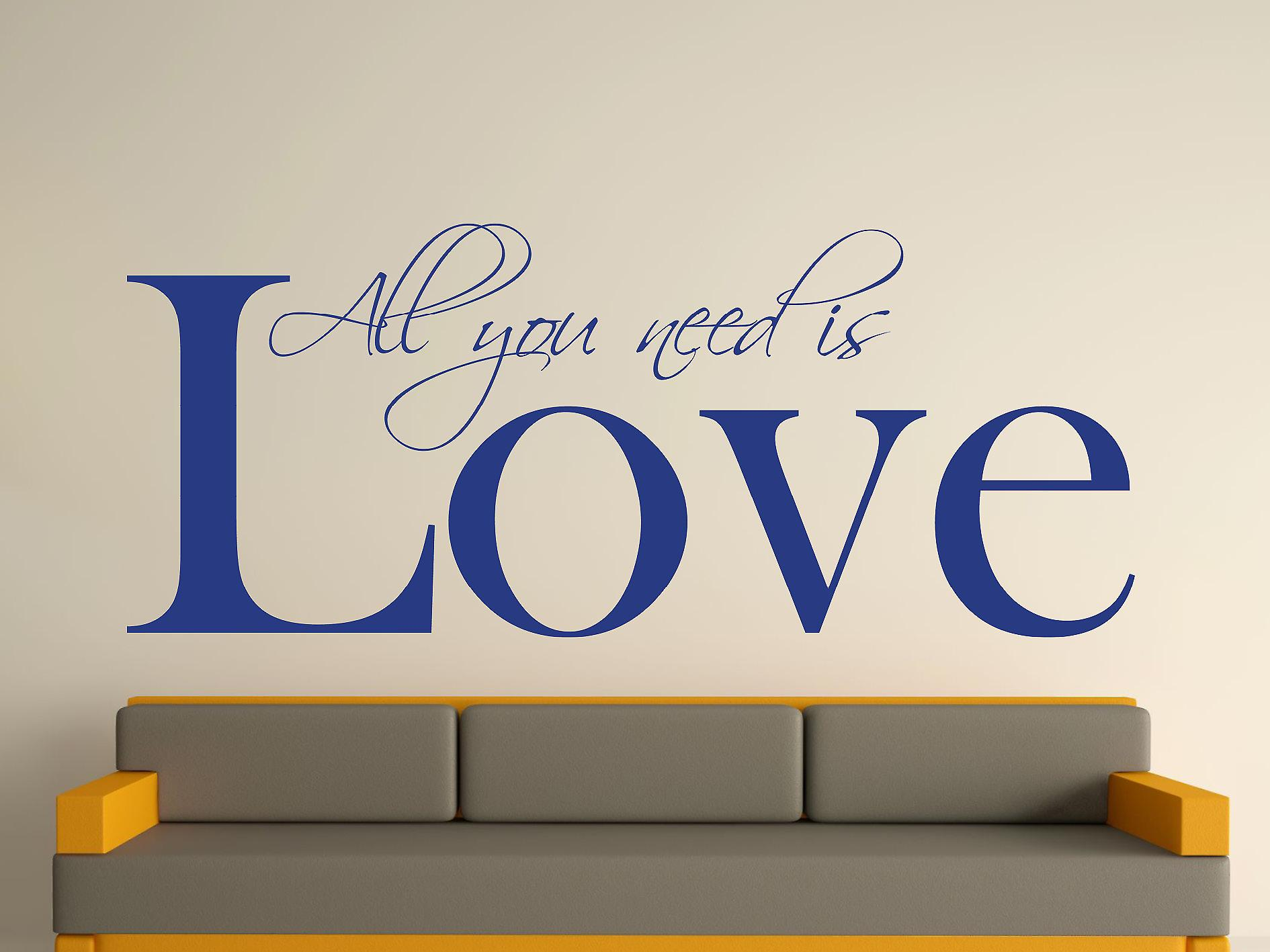 All You Need Art Wall Sticker - Azure