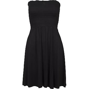 Urban klassikere damer sommer kjole røyk bandeau