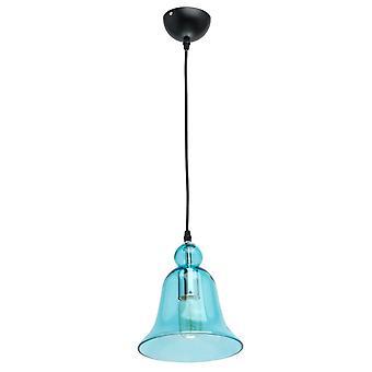 Glasberg - Anhänger Single In schwarz mit blauem Glasschirm 720010401 einstellbar