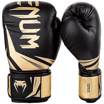 Venum Challenger 3.0 Hook & Loop Boxing Training Gloves - Black/Gold
