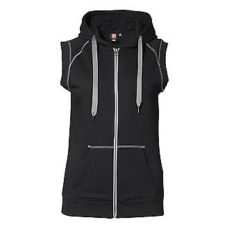 ID Womens/Ladies Sporty Hooded Fitted Vest Top