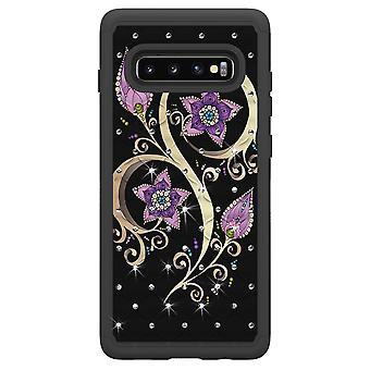 Samsung Galaxy S10 + TPU-Shell Rüstung Extra langlebig-lebendige Blume