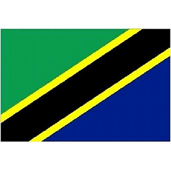 Tanzania Flag 5ft x 3ft With Eyelets For Hanging