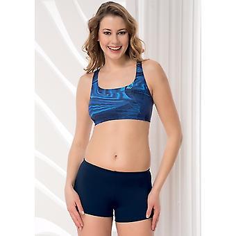 Aqua Perla - Womens -sporty - Blue- Bikini  Short Bottom