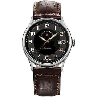 Zeno-watch mens watch flatline automatic retro 6209-c1