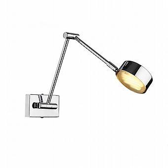 Crociera singola parete-lampadario cromo lucido