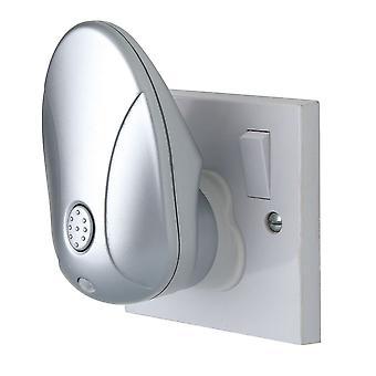 Firstlight-LED 1 ljus projektor natt lampa silver, RGB-8371RGB