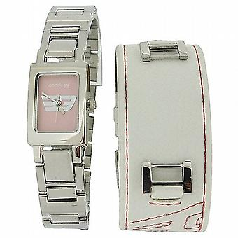 Golddigga Hi-Fashion Interchangeable Leather/Bracelet Strap Watch ARGD8000