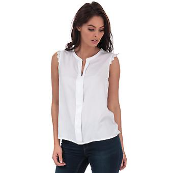 Womens Only Kimmi Lace Trim Top In White