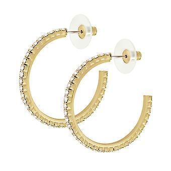 Evige samling Diamante guld Tone Hoop gennemboret øreringe