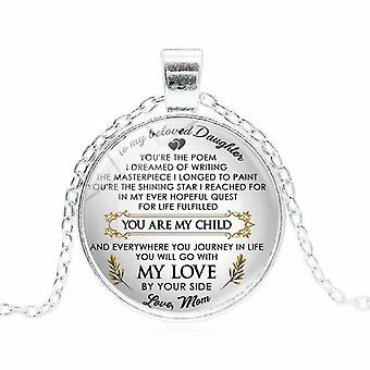 To my daughter necklaces - choice of inspirational message