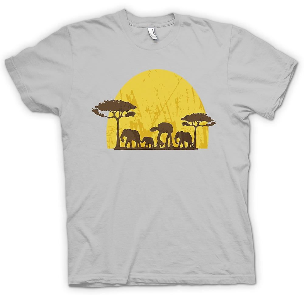 Heren T-shirt - Star Wars Safari - olifant en ATAT