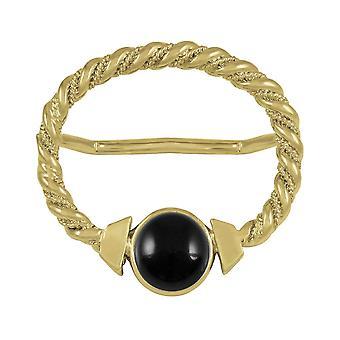 Ewige Sammlung Maxi schwarz Onyx große Schal Gold Ring