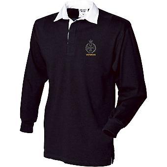 Royal Green Jackets veterano-licenciado British Army bordado camisa de manga comprida Rugby