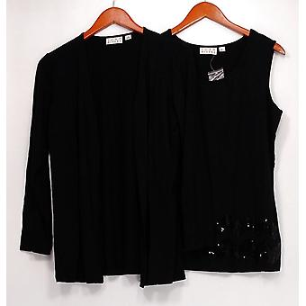 Joan Rivers Classics Collection Women's Sweater Cardigan  Black A254824