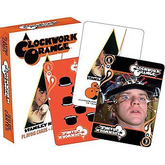Carta da gioco - Un orologio arancione giovani poker giochi nuovi concesso in licenza 52450