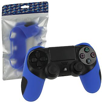 SG-1 Silicone rubber grip Cover Case Skin voor Sony PS4 controllers-blauw
