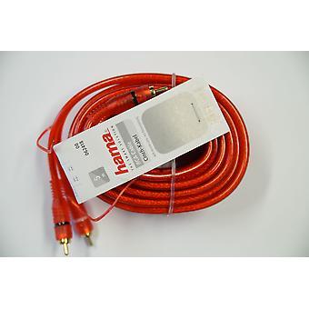 Hama Chinchkabel 5 Meter mit Remoteleitung rot