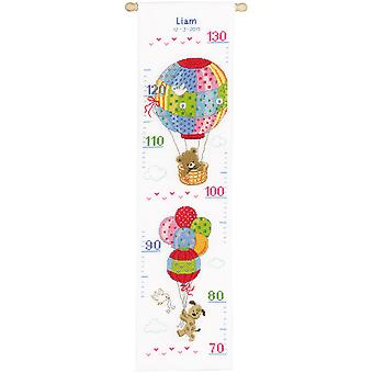 Travelling Height Chart On Aida Counted Cross Stitch Kit-7
