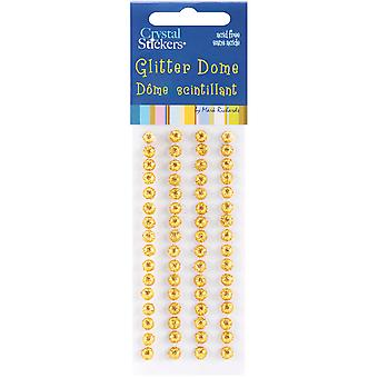 Dome autocollants 5Mm 64 Pkg de paillettes or Gd5mm 5729