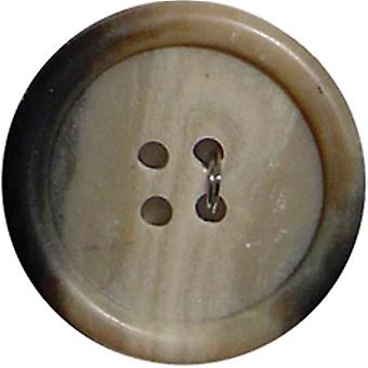 Slimline Buttons Series 2 Beige 4 Hole 3 4