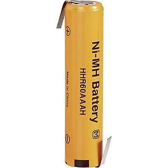 Non-standard battery (rechargeable) AAA Z solder tab NiMH Panas