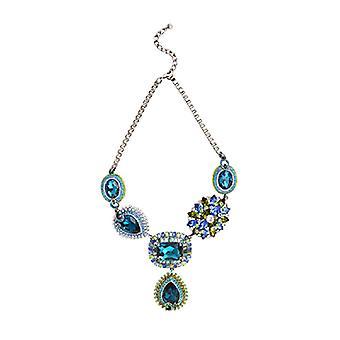 Butler & Wilson Crystal utarbeta Y form halsband - Aqua