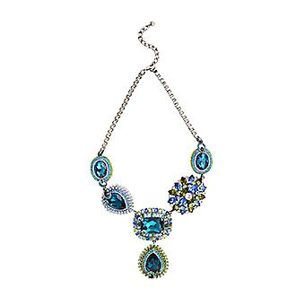 Butler & Wilson Crystal uddybe Y form halskæde - Aqua