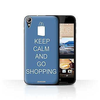 STUFF4 Case/Cover voor HTC Desire 830/Go winkelen/Blue/Keep Calm